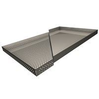 "Economy Series Solid Stainless Drying Pan18""x32""x1.5"